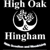 High Oak and Hingham with Scoulton and Woodrising Logo
